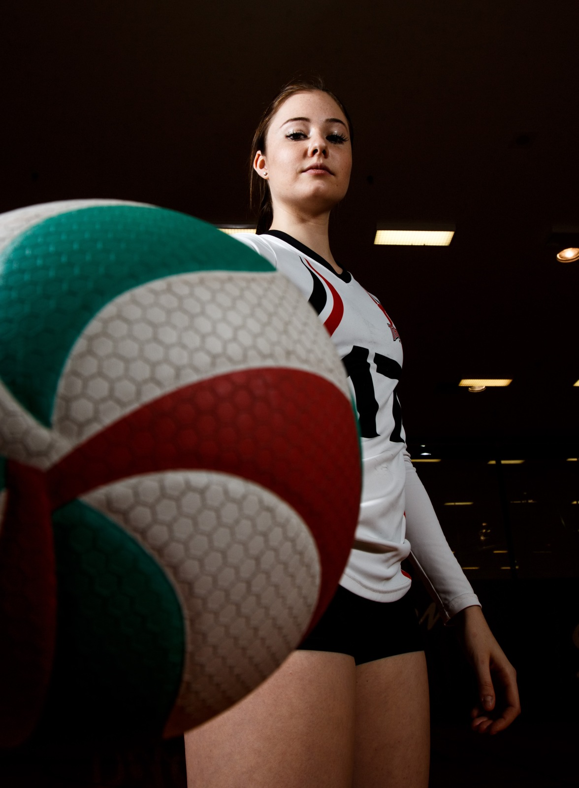 Volleyball stock photography at Campus Centre gym in Calgary on Thursday, April 14, 2016. (Photo by Kyle Meller)